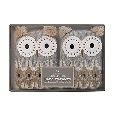 Aroma Home Click And Heat Chauffe-Mains Motif Hibou
