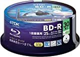 TDK Blu-ray BD-R Disk | 25GB 4x Speed 30 Pack (Japan Import)