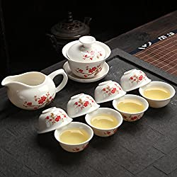 GENERIC Peach flowe : Originally from Travel tea sets e and white porcelain tea sets tea tools gift box