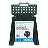 Tekbox 150KG Heavy Duty Folding Step Stool Super Strong Multi Purpose Plastic Home Kitchen Foldable Easy Storage