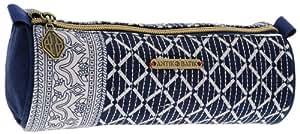 1Trousse fourre-tout rond - ANTIK BATIK - matière textile - 7x21cm