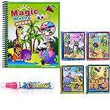 Sanzhileg Doodle Libro di Disegno di Acqua Magica Libro da colorare con la Penna Magica Pittura Tavolo da Disegno per Bambini Giocattolo educativo