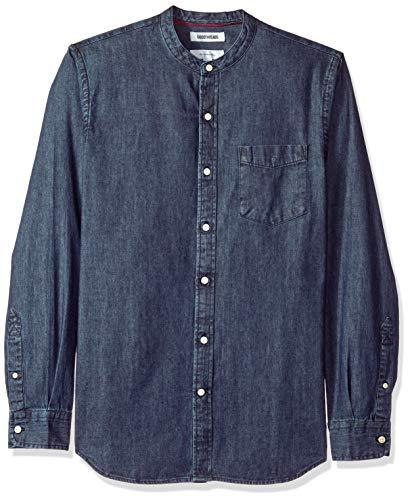 Goodthreads camicia a maniche lunghe di jeans slim fit uomo