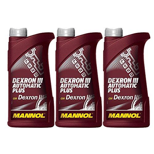 3X 1L MANNOL ATF Dexron III Automatic Plus/cambio automatico del Servo di olio rosso