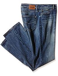 H.I.S Jeans HIS Damen Jeanshose Stretch blue velvet (36/31, Blue Velvet)