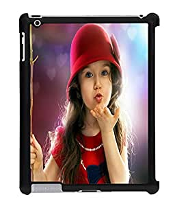 Fuson 2D Printed Cute Baby Designer Back Case Cover for Apple iPad 2 - D734