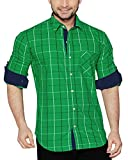 Global Rang Green Checks Casual Shirt for Men Stylish (40)