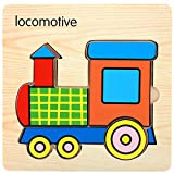 squarex Holz Lovely Puzzle Educational Entwicklungs-Baby Kids Training Spielzeug Geschenk Baby Auto