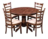 #8: Royaloak Coco Dining Table Set with 4 Chairs (Walnut)