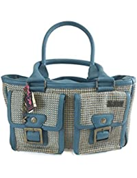 Playboy Women Bag Leather/Textile PA1563 Turquoise/Hemp