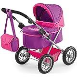 Bayer Design - Trendy, cochecito de muñeca, color lila y fucsia (13079)
