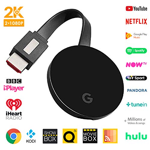 Wireless HDMI screen mirroring display dongle - GcastUltra second  generation 5G chromecast - wifi receiver streaming 1080p-2k picture, For  Android /