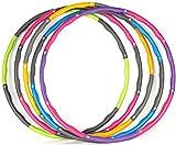 Tonyko Poids Hula Hoop 1.2KG | Cerceau de Fitness rembourré en Mousse Ajustable pour l'exercice et la Danse (Vert & Gris)