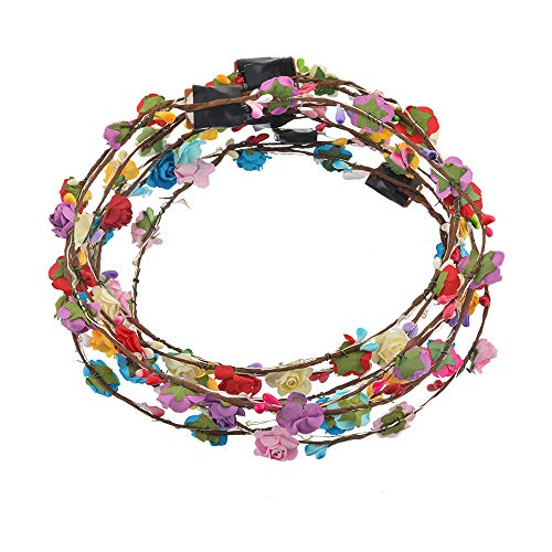 F.lashes Led Blumenkranz mehrfarbig Blume Bohemia Style Kopfschmuck -