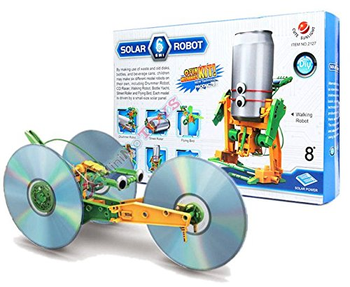 Die Flaschenpost - Recycler Robot - 6 Solar Spielzeuge mit Ã-KO Pfiff - Bausatz / The Educational Recycler / Le Kit de Recyclage Solar