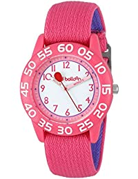 "Red Balloon Kids' W001895 ""Time Teacher"" Plastic Watch with Adjustable Pink Nylon Strap"