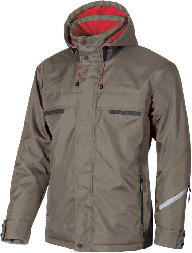 U-Power Snow Parka - Winterjacken - warme Arbeitsjacken mud titanium