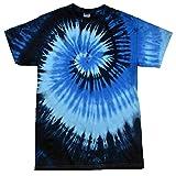 Colortone Rainbow tie-dye shirt, Blue Ocean, L