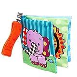 Sonnena Baby Bücher, Weich Stoffbuch Puzzlebuch Tierbuch Elefanten Tiger Buch Lerne Bilderbuch Buch kinderbuch Urlaub Lernspielzeug Baby Geschenke für Baby ab 0-3 Jahre (a)