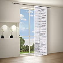 Gardine / Vorhang / Flächenvorhang ZEENA / Schiebevorhang B/H: 60x245cm /  Halbtransparente Qualität