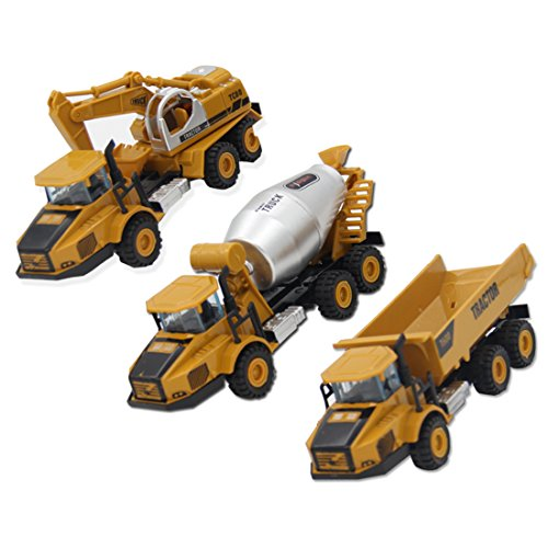 mlsh-3-pcs-engineering-vehicles-toy-include-concrete-mixer-truck-collectible-dump-truck-excavatorall