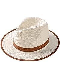 ACVIP Little Boy Girl Summer Straw Fedora Panama Hat Children Jazz Cap 1b14e8dd321a