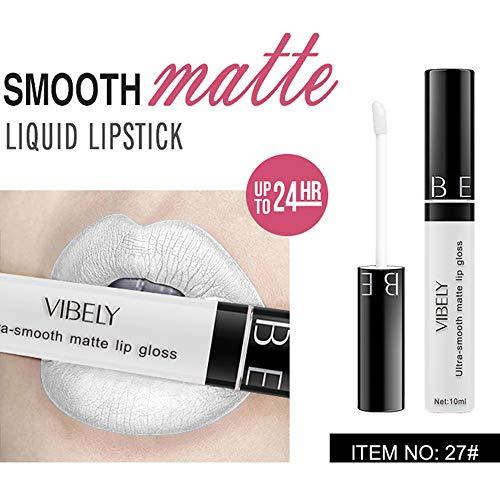 Yazidan Matte Lippenstifte Wasserfest Langlebig Liquid Lipstick Lipgloss Set,Langlebiger,...