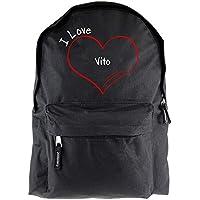 I Love Vito negro mochila modern