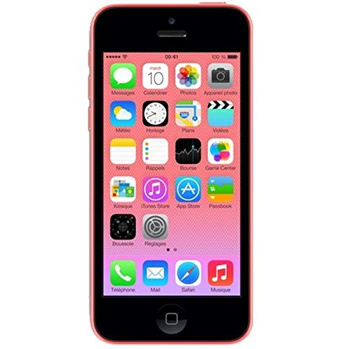 Beback iPhone 5C Reconditionné 4G Smartphone débloqué Grade A (Ecran: 4 Pouces - 32 Go - Nano-SIM - iOS) Rose