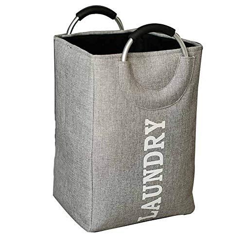 ETH Faltbarer Aufbewahrungseimer Tuch Schmutziger Wäschekorb Spielzeug Kleinigkeiten Aufbewahrungskorb Wäschekorb (Farbe : Gray) -