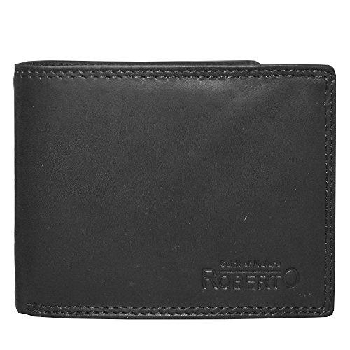 Schwarze Spirit of Nature Herrengeldbörse echt Leder Brieftasche zum spitzen Preis (Angebote Top)