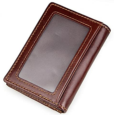 Autolock® Men's Quality Soft Leather Wallet with Multiple Card Slots and i.d. Window