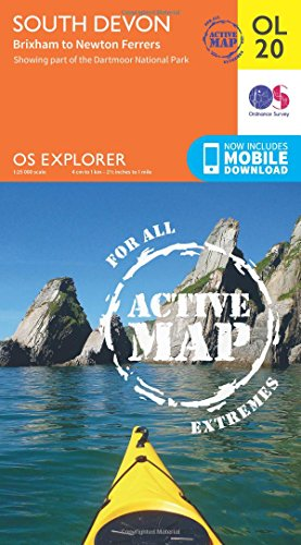 OS Explorer ACTIVE OL20 South Devon, Brixham to Newton Ferrers (OS Explorer Map)