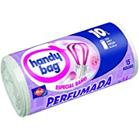 Handy Bag Bolsa Basura Perfumada para Baño, 10 L - 15 Unidades