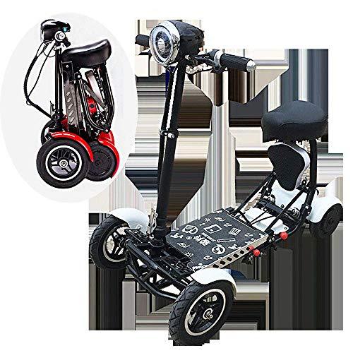Y&XF Mobiler Scooter für unterwegs Kofferraum-Scooter 4-Rad Mobiler Scooter für unterwegs 10AH Batterien Reichweite 20 km (Roulette-rad 20)