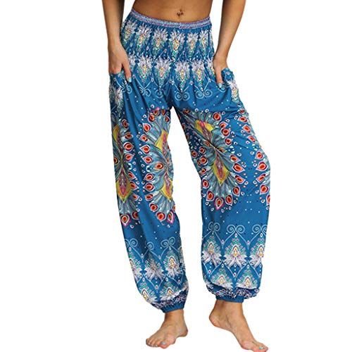 YWLINK 2019 Damen Kleidung,MäNner Frauen BeiläUfige Lose Hippie Yoga Hosen Baggy Boho Aladdin Haremshose ...