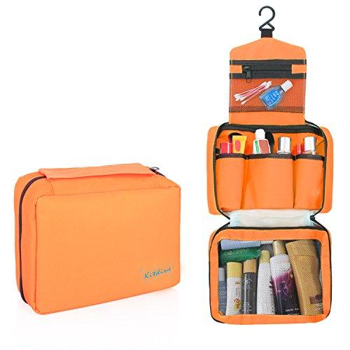Borsa da bagno da viaggio - Kitdine Medio Per Uomini & Donne / Appendiabiti / Organizzatore da viaggio – Beauty case (Arancione)