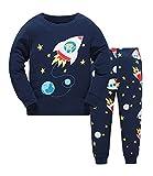 Kinder Rocket Pyjamas Sets Kinder Kleidung Set Jungen Baumwolle Kleinkind Pjs Nachtwäsche 2-3Y