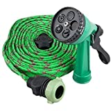 Hari Om Creation Multifunctional Water Spray Gun For Plants Car Wash For Garden With Hose Pipe Indoor Outdoor Withra High Pressure Washer 10 Mtr (Green)