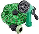 Features: Water spray gun durable gun water spray is ideal for garden watering and vehicle cleaning etc. The gun nozzle water lever spray is made of solid plastic body-plated and the flexible hose connector is also constructed of plastic material. Ea...