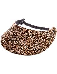 """XFORE visière soleil """"Walton"""" casquette de golf sport tennis pour femmes avec motif léopard, taille unique"""