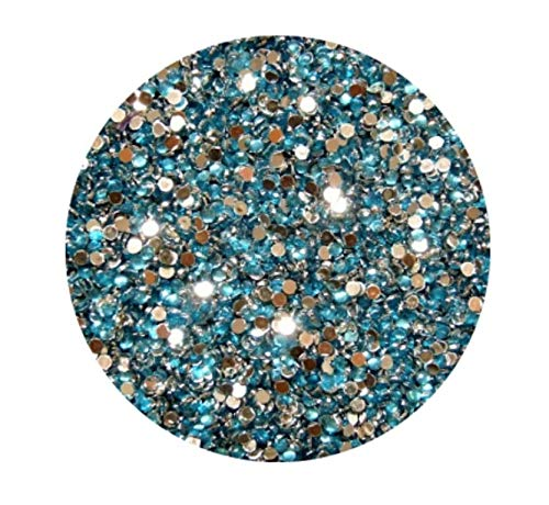 Strass Rond, Turquoise, 2 mm, env. 100 pièces