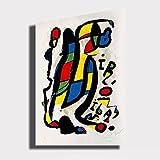 Quadro moderno MIRO Joan Mirò rosso giallo verde RIPRODUZIONE STAMPA SU TELA Quadri Moderni Moderno Astratto Arte Cucina Soggiorno Camera da letto printerland.it (70x100 cm)