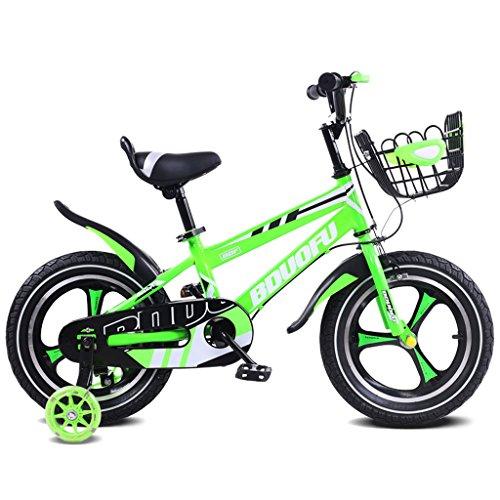 LXYFMS Kinderfahrrad 14.12.16 Zoll Kinderwagen 2-5-8 Jahre altes Kind Dreirad Pedal Fahrrad Grün Kinderfahrrad (Size : 14 inches)