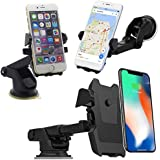 DeoDap Universal Car Mobile Holder/Car Mount Long Neck 360° Rotation with Ultimate Reusable Suction Cup for Car Dashboard/Car Windshield/Desktop