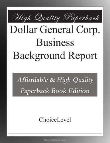 dollar-general-corp-business-background-report