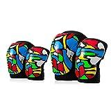 Ginocchiera Chunlan Bambini Set di Protezioni Adatto A Bambini di 3-7 Anni Skateboard/Rullo/Bicicletta Schianto (Color : B)