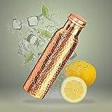 VEDIC Hammered Design Pure Copper Bottle, Drinkware 900 ml (Hammered 1)