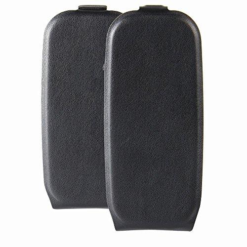 Nokia 105 (2017) Premium PU-Leder Flip Hülle Casefirst Leder Handyhülle Brieftasche Book Type PU Leder Lederhülle mit Kartensteckplatz und Standfunktion Stoßfest Ultra Schlag Schutz Leichtgewicht Hülle - Nokia 105 (2017) Black