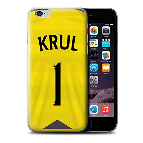 Offiziell Newcastle United FC Hülle / Case für Apple iPhone 6 / Pack 29pcs Muster / NUFC Trikot Home 15/16 Kollektion Krul